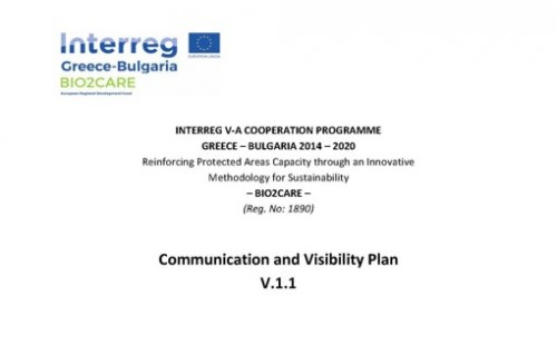 Extract from the Cover Page of the Communication Plan