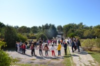 The NPEMT celebrated the day with the participation of 120 students who were informed about migratory birds, played environmental games and had birdwatching activities in the wetland.